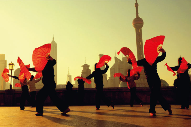 shanghai bund - chinesische kultur